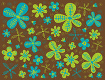 Flower texture. Illustration of flower texture on brown background Stock Photos