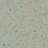 Flower texture on a grey backgroun. Seamless flower texture on a grey background. Can be used as a background picture, pattern fill, surface texture, a figure Royalty Free Stock Image