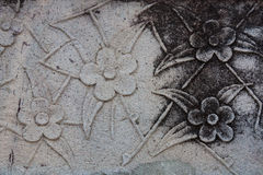Flower texture on rock Royalty Free Stock Images