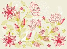 Flower texture in vector. Illustration of flower texture on background in vector Royalty Free Stock Photo
