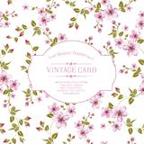 Flower texture on vintage card. stock photography