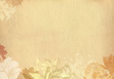 Flower textured old paper Royalty Free Stock Photos