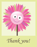 Flower thank you card. Illustration of flower thank you card Stock Photo
