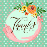 Flower thanks card Royalty Free Stock Images