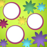 Flower theme background Royalty Free Stock Photos