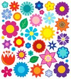 Flower theme collection 4 Royalty Free Stock Photo