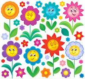 Flower theme collection 5 Stock Image