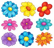 Flower theme collection 6 Stock Images