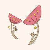 Flower theme elements vector,eps. Vector illustration file Stock Photos