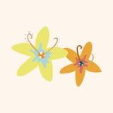 Flower theme elements vector,eps Royalty Free Stock Photos