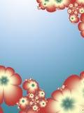 Flower themed frame Stock Images