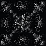 Flower tile gothic 4 gradient Royalty Free Stock Images