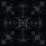 Flower tile gothic black Royalty Free Stock Images