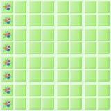 Flower Tiles Wall Border 2 Stock Images