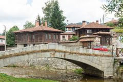 Flower Topolnitsa bridge over a river in Koprivshtitsa, Bulgaria Royalty Free Stock Photos