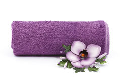 Flower and towel Royalty Free Stock Photo