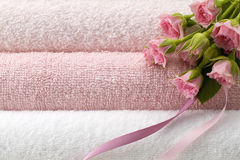 Flower and towel Stock Photography