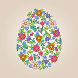 Flower tracery egg Royalty Free Stock Image