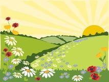 Flower trail Vector Illustration