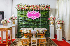 Flower tray, in thai wedding ceremony Royalty Free Stock Images