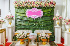 Flower tray, in thai wedding ceremony Royalty Free Stock Photos