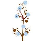 Flower tree. A vector illustration of a beautiful tree with blooming flowers Royalty Free Stock Photo