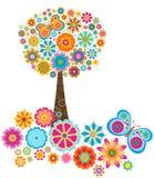 Flower tree vector illustration