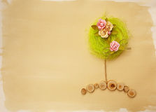 Flower tree card Stock Photography