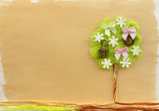 Flower tree craft. Stock Photo