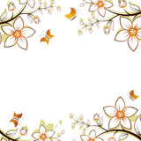 Flower tree frame Royalty Free Stock Photos