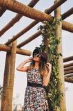 Flower, Tree, Girl, Dress Stock Photos