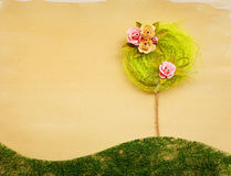 Flower tree landscape abstract Stock Photos