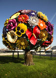 Flower tree sculpture in Lyon, France Stock Photography