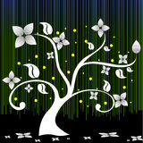 Flower tree vector design on black background Royalty Free Stock Images