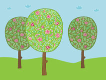 Flower trees Royalty Free Stock Photos