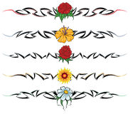 Flower tribal tattoo Royalty Free Stock Images