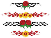 Flower tribal tattoo Stock Photo