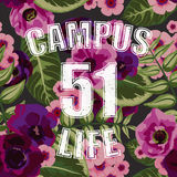 Flower tropical seamless pattern with campus life Stock Images
