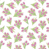 Flower tulips seamless background. vector illustration