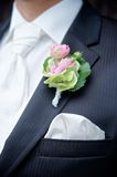 Flower on a Tux of a Groom Stock Photos