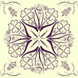 The flower Universe. Vector symmetrically pattern of colors Royalty Free Stock Photos