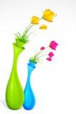 Flower Vase. Illustration of bunch of fresh flower in flower vase Stock Photography