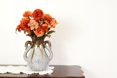 Flower Vase. Silk flower arrangement in vase Stock Image