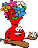 Flower vase Baseball Batter Stock Photography