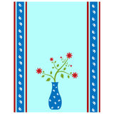 Flower vase card Royalty Free Stock Photo