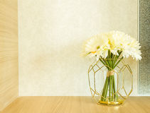 Flower vase decorated in room Royalty Free Stock Image
