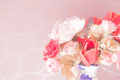 Flower in the vase pink color Stock Photo