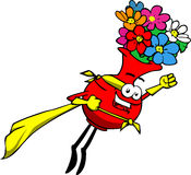 Flower vase superhero Stock Photo