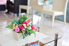 Flower vase on table Royalty Free Stock Photos