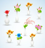 Flower Vase Vectors Royalty Free Stock Photo